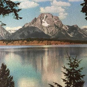 Vintage Wall Art - 1940s photograph Grand Teton National Park